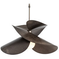 Hubbardton Forge 139455-1007 Hibiscus 1 Light 19 inch Dark Smoke Pendant Ceiling Light
