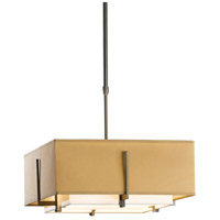Hubbardton Forge 139625-1205 Exos 2 Light 17 inch Dark Smoke Pendant Ceiling Light Square Small