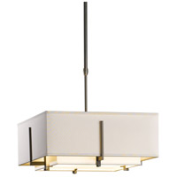 Hubbardton Forge 139625-1209 Exos 2 Light 17 inch Dark Smoke Pendant Ceiling Light Square Small