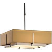 Hubbardton Forge 139630-1211 Exos 4 Light 21 inch Dark Smoke Pendant Ceiling Light Square