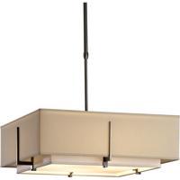 Hubbardton Forge 139630-1215 Exos 4 Light 21 inch Dark Smoke Pendant Ceiling Light Square