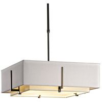 Hubbardton Forge 139630-1214 Exos 4 Light 21 inch Dark Smoke Pendant Ceiling Light Square