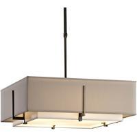 Hubbardton Forge 139630-1209 Exos 4 Light 21 inch Dark Smoke Pendant Ceiling Light Square