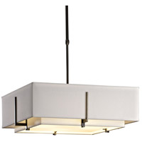 Hubbardton Forge 139630-1208 Exos 4 Light 21 inch Dark Smoke Pendant Ceiling Light Square