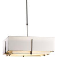 Hubbardton Forge 139635-1203 Exos 4 Light 25 inch Dark Smoke Pendant Ceiling Light Square Large