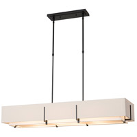 Hubbardton Forge 139640-1166 Exos 4 Light 15 inch Black Pendant Ceiling Light Rectangular