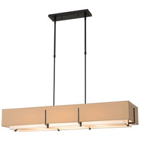 Hubbardton Forge 139640-1876 Exos 4 Light 15 inch Burnished Steel Pendant Ceiling Light, Rectangular thumb