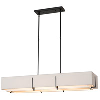 Hubbardton Forge 139640-1184 Exos 4 Light 15 inch Black Pendant Ceiling Light Rectangular