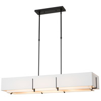 Hubbardton Forge 139640-1843 Exos 4 Light 15 inch Vintage Platinum Pendant Ceiling Light, Rectangular thumb