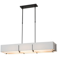 Hubbardton Forge 139640-1202 Exos 4 Light 15 inch Black Pendant Ceiling Light Rectangular