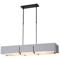 Hubbardton Forge 139640-1969 Exos 4 Light 15 inch Vintage Platinum Pendant Ceiling Light, Rectangular thumb