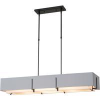 Hubbardton Forge 139640-1211 Exos 4 Light 15 inch Black Pendant Ceiling Light Rectangular