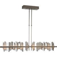 Hubbardton Forge 139652-1097 Hildene LED 5 inch Burnished Steel/Vintage Platinum Pendant Ceiling Light