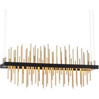 Hubbardton Forge 139654-1012 Gossamer LED 5 inch Black/Gold Pendant Ceiling Light