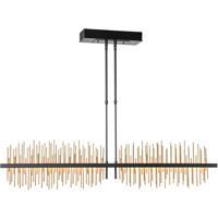 Hubbardton Forge 139655-1039 Gossamer LED 5 inch Black/Gold Pendant Ceiling Light