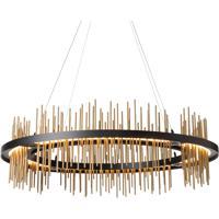 Hubbardton Forge 139656-1012 Gossamer LED 38 inch Black/Gold Pendant Ceiling Light