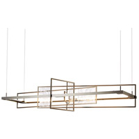 Hubbardton Forge 139753-1002 Summer LED 16 inch Dark Smoke with Aqualite Accent Pendant Ceiling Light