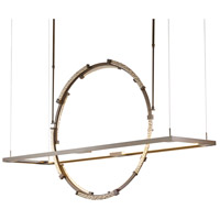 Hubbardton Forge 139757-1004 Theta LED 16 inch Bronze with Soft Gold Accent Pendant Ceiling Light
