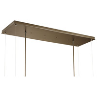 Hubbardton Forge 139757-1007 Theta LED 16 inch Dark Smoke with Soft Gold Accent Pendant Ceiling Light