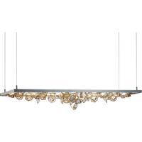 Hubbardton Forge 139760-1013 Winter LED 16 inch Burnished Steel/Vintage Platinum Pendant Ceiling Light
