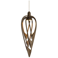 Hubbardton Forge 161170-1002 Amulet 1 Light 6 inch Dark Smoke Mini Pendant Ceiling Light