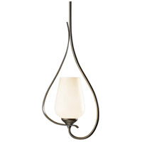 Hubbardton Forge 183050-1033 Flora 1 Light 4 inch Burnished Steel Mini Pendant Ceiling Light thumb