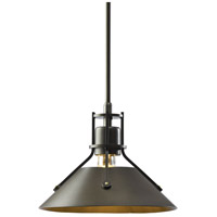 Hubbardton Forge 184250-1033 Henry 1 Light 9 inch Bronze with Bronze Accent Mini Pendant Ceiling Light