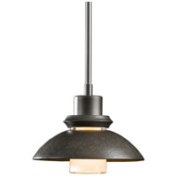 Hubbardton Forge 184930-1010 Staccato 1 Light 7 inch Dark Smoke Mini Pendant Ceiling Light