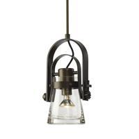 Hubbardton Forge 187200-1028 Erlenmeyer 1 Light 8 inch Dark Smoke Mini Pendant Ceiling Light Large