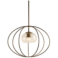 Hubbardton Forge 187420-1071 Cadence 1 Light 20 inch Dark Smoke Mini Pendant Ceiling Light