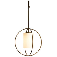 Hubbardton Forge 187440-1069 Rhythm 1 Light 11 inch Dark Smoke Mini Pendant Ceiling Light