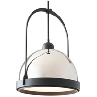 Hubbardton Forge 187462-1136 Atlas 1 Light 13 inch Black/Polished Nickel Mini Pendant Ceiling Light