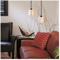 Hubbardton Forge 187650-1054 Exos 1 Light Black Mini Pendant Ceiling Light Small
