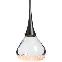 Hubbardton Forge 188902-1013 Fritz 1 Light 8 inch Black Mini Pendant Ceiling Light