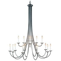 Hubbardton Forge 191043-1005 Simple Sweep 15 Light 46 inch Natural Iron Chandelier Ceiling Light