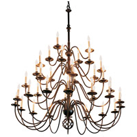 Hubbardton Forge 191572-1004 Ball Basket 36 Light 72 inch Black Chandelier Ceiling Light