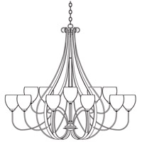 Sweeping Taper 15 Light 66 inch Natural Iron Chandelier Ceiling Light