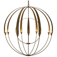 Hubbardton Forge 194248-1011 Double Cirque 12 Light 48 inch Gold Chandelier Ceiling Light, Large Scale