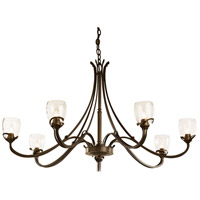 Hubbardton Forge 194348-1001 Aubrey 7 Light 47 inch Bronze Chandelier Ceiling Light
