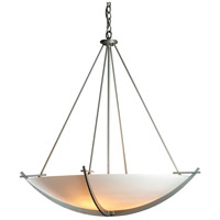 Hubbardton Forge 194531-1006 Compass 3 Light 34 inch Burnished Steel Pendant Ceiling Light Large