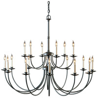 Hubbardton Forge 197144-1005 Simple Lines 18 Light 43 inch Natural Iron Chandelier Ceiling Light