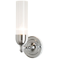 Hubbardton Forge 202123-1000 Fluted 1 Light Polished Chrome Sconce Wall Light in Clear
