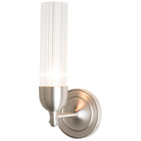 Hubbardton Forge 202123-1002 Fluted 1 Light Brushed Nickel Sconce Wall Light in Clear