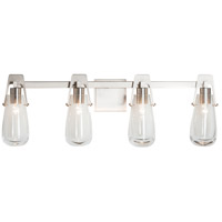 Hubbardton Forge 202145-1004 Vessel 4 Light Brushed Nickel Sconce Wall Light