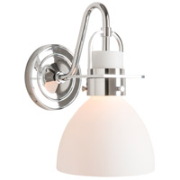 Hubbardton Forge 202160-1001 Castleton 1 Light Polished Chrome Sconce Wall Light in Opal Domed