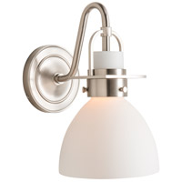 Hubbardton Forge 202160-1002 Reflections - Castleton 1 Light Brushed Nickel Sconce Wall Light in Opal Domed