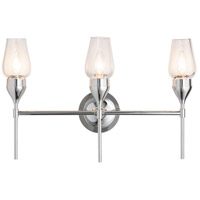 Hubbardton Forge 202192-1000 Reflections - Tulip 3 Light 22 inch Polished Chrome Sconce Wall Light in Clear HF Reflections