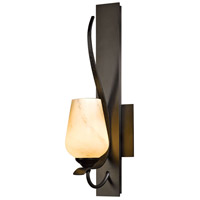 Hubbardton Forge 203035-1015 Flora 1 Light 5 inch Burnished Steel Sconce Wall Light in Pearl thumb