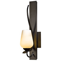 Hubbardton Forge 203035-1011 Flora 1 Light 5 inch Dark Smoke Sconce Wall Light in Pearl