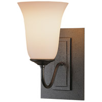 Hubbardton Forge 203221-1015 Traditional 1 Light 5 inch Natural Iron Sconce Wall Light in Opal